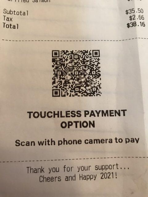 QR receipt
